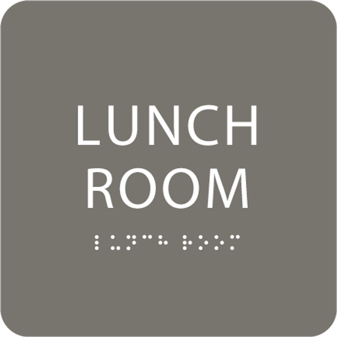 Dark Grey Lunch Room ADA Sign