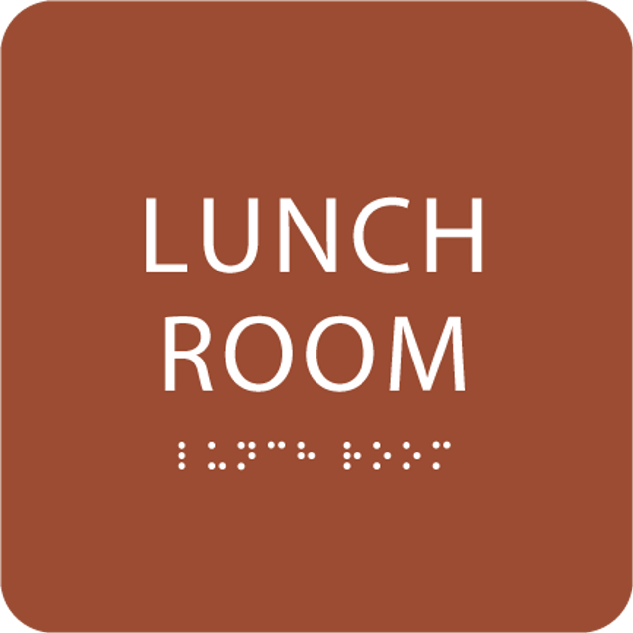 Orange Lunch Room ADA Sign
