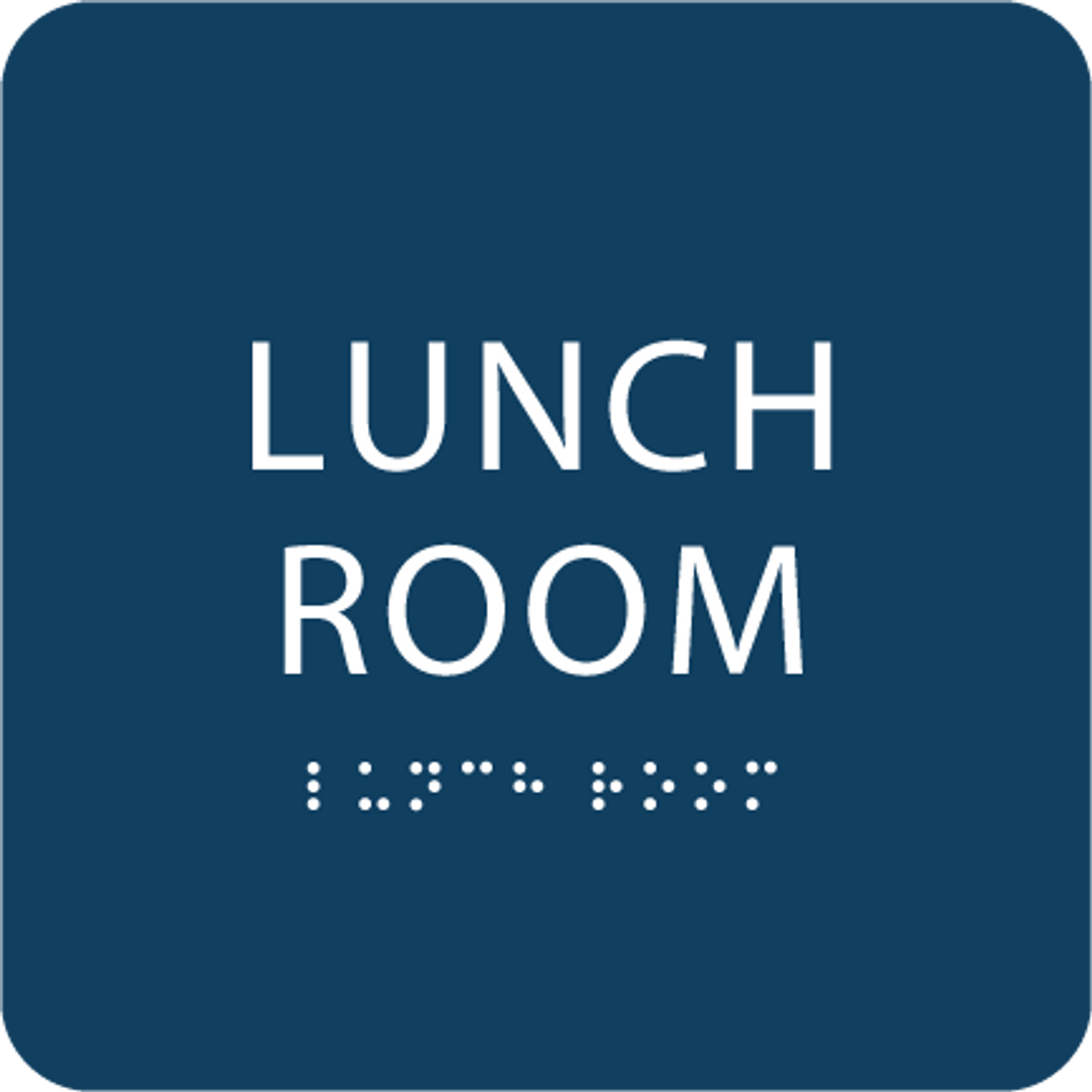 Dark Blue Lunch Room ADA Sign