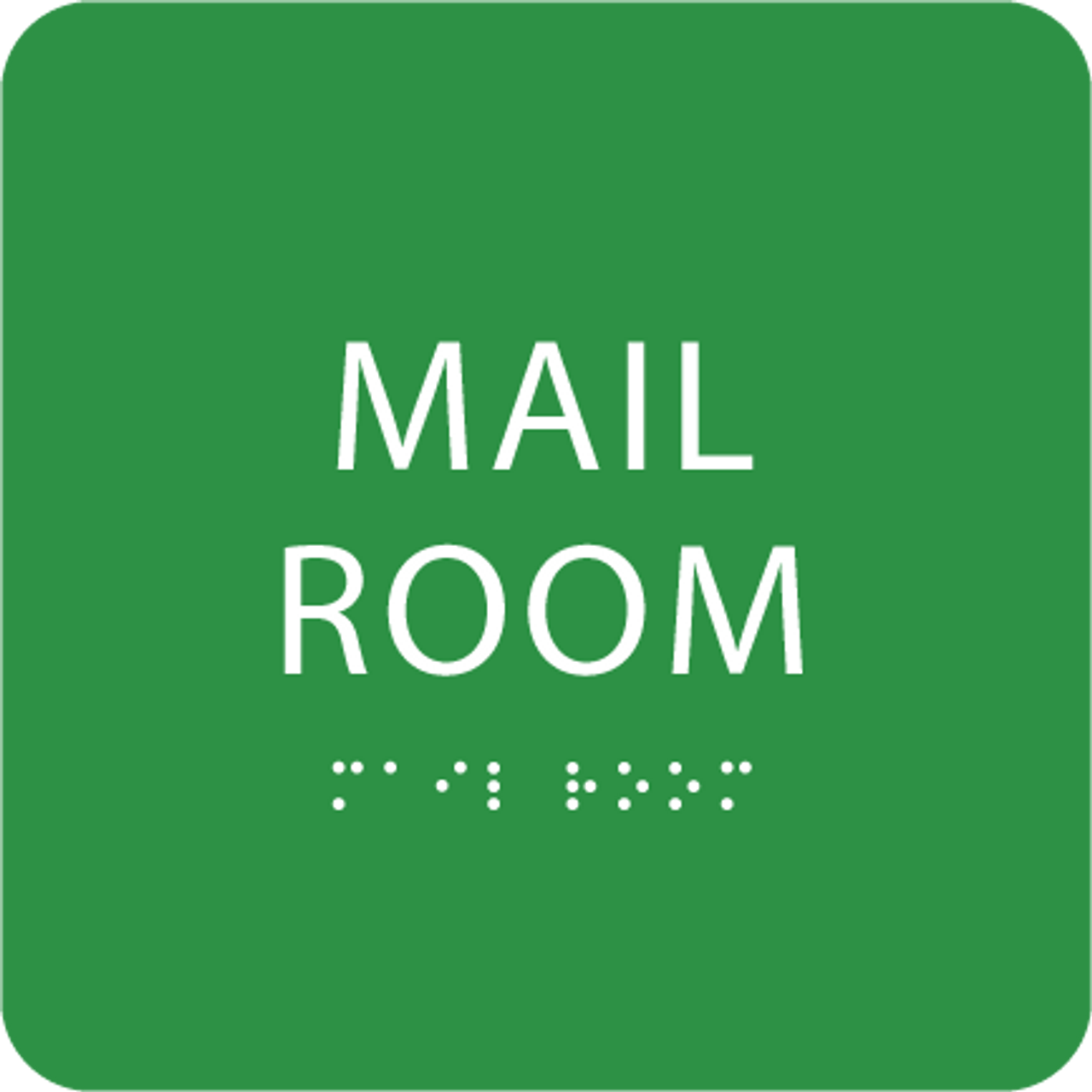 Green Mail Room ADA Sign