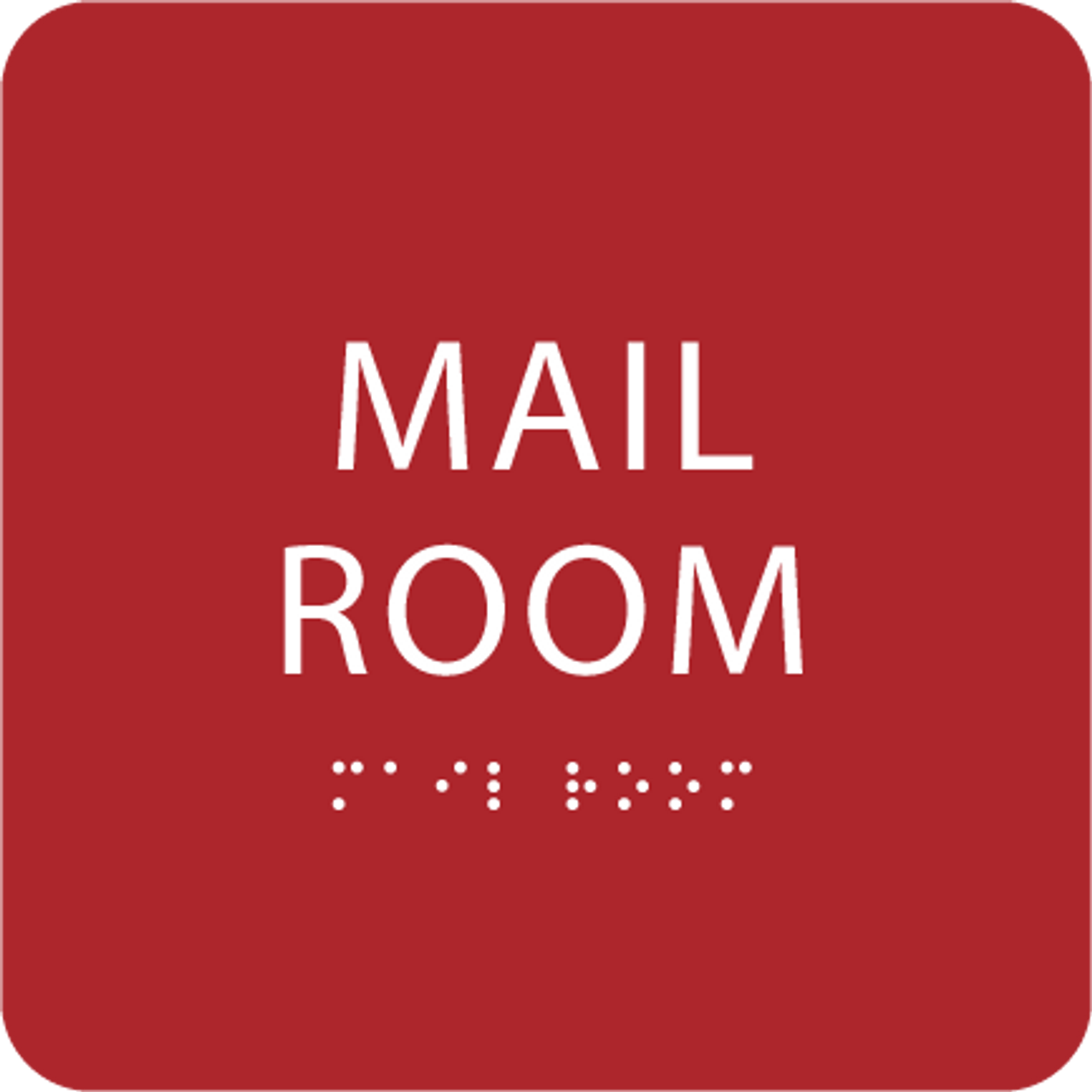 Red Mail Room ADA Sign
