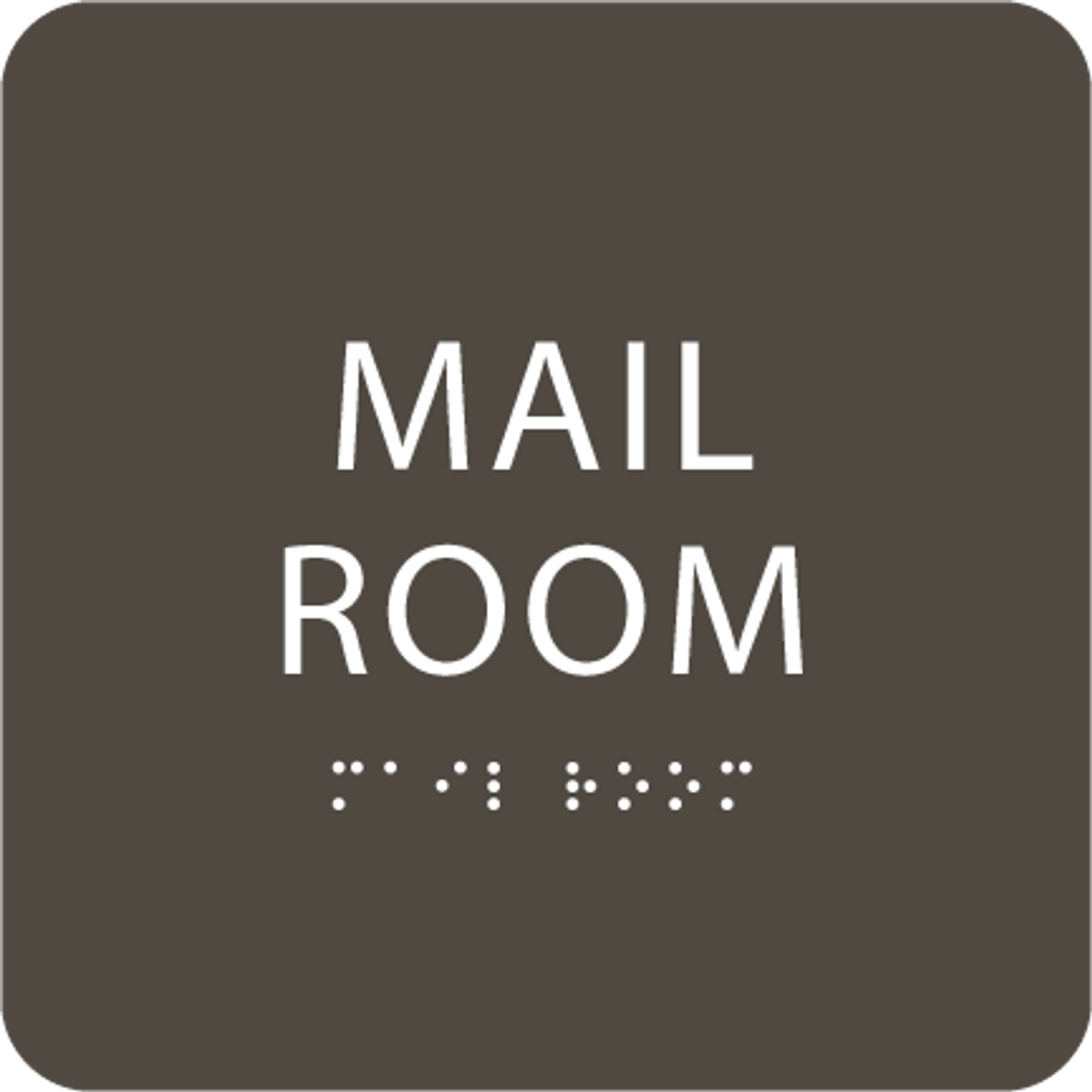 Olive Mail Room ADA Sign