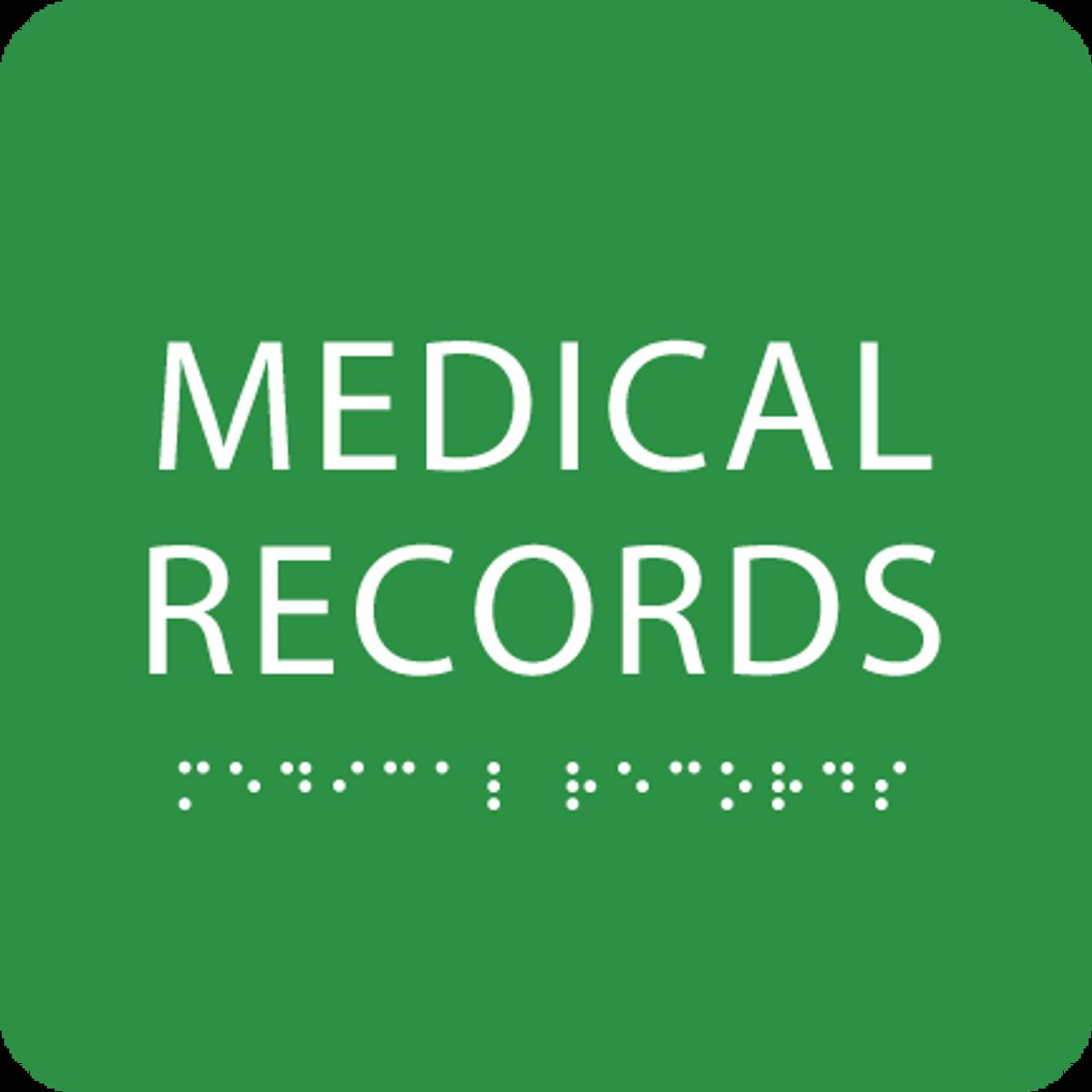 Green Medical Records ADA Sign
