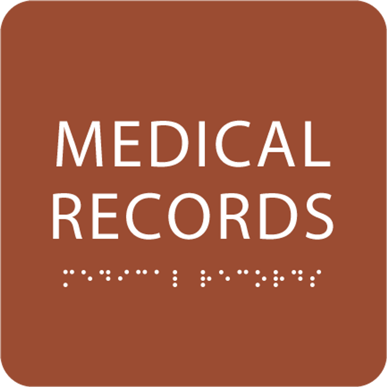 Orange Medical Records ADA Sign