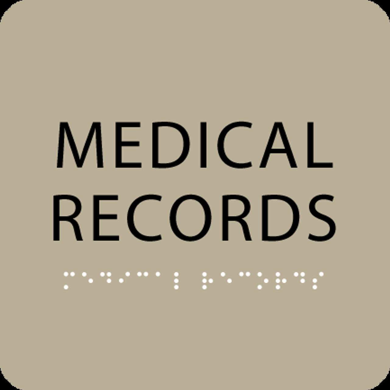 Brown Medical Records ADA Sign