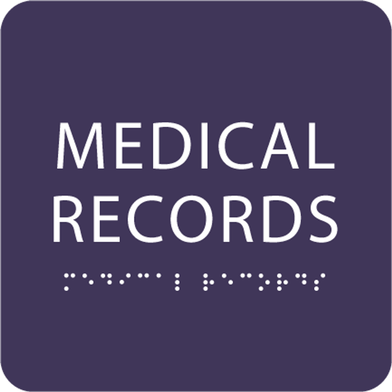 Purple Medical Records ADA Sign