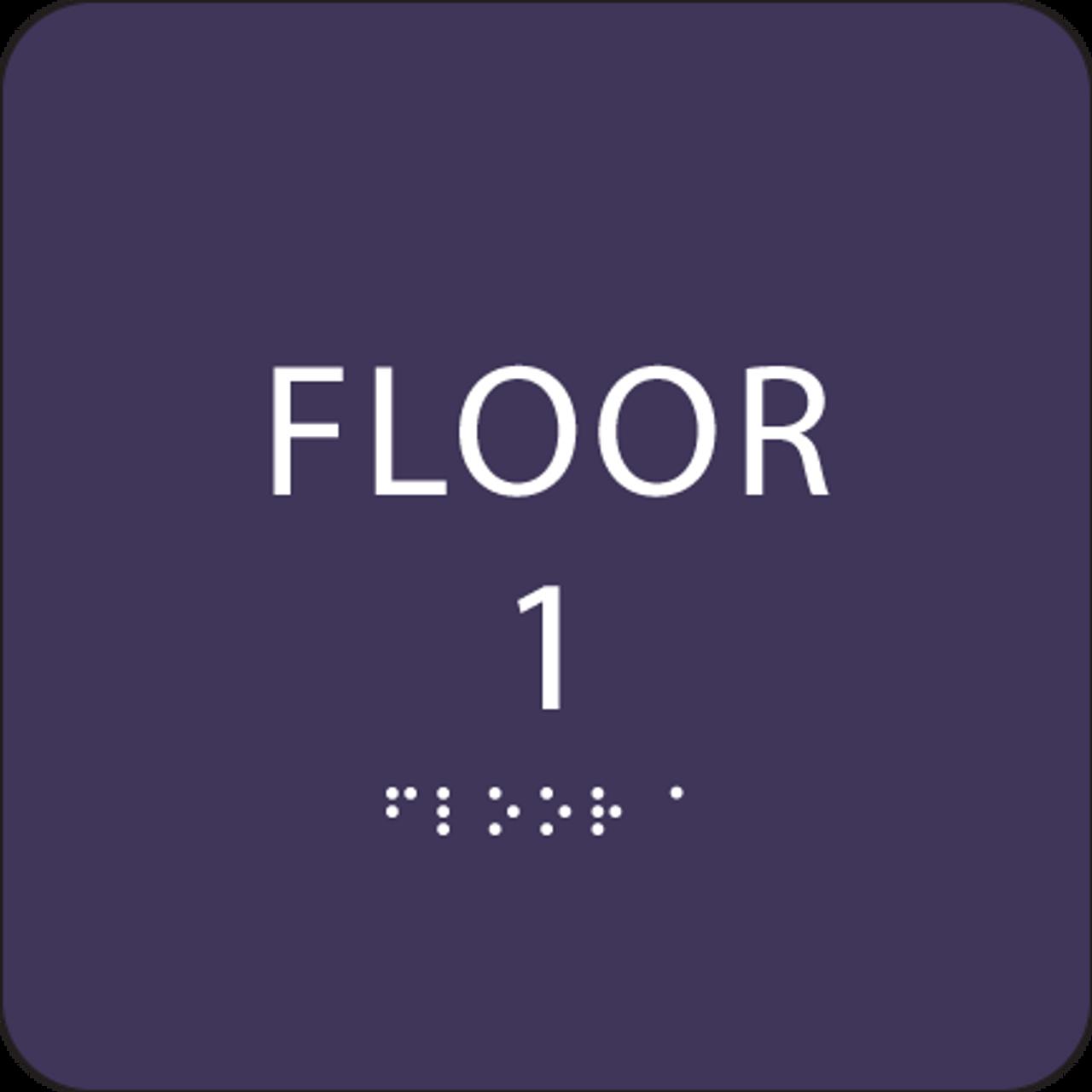 Purple Floor 1 Identification Sign