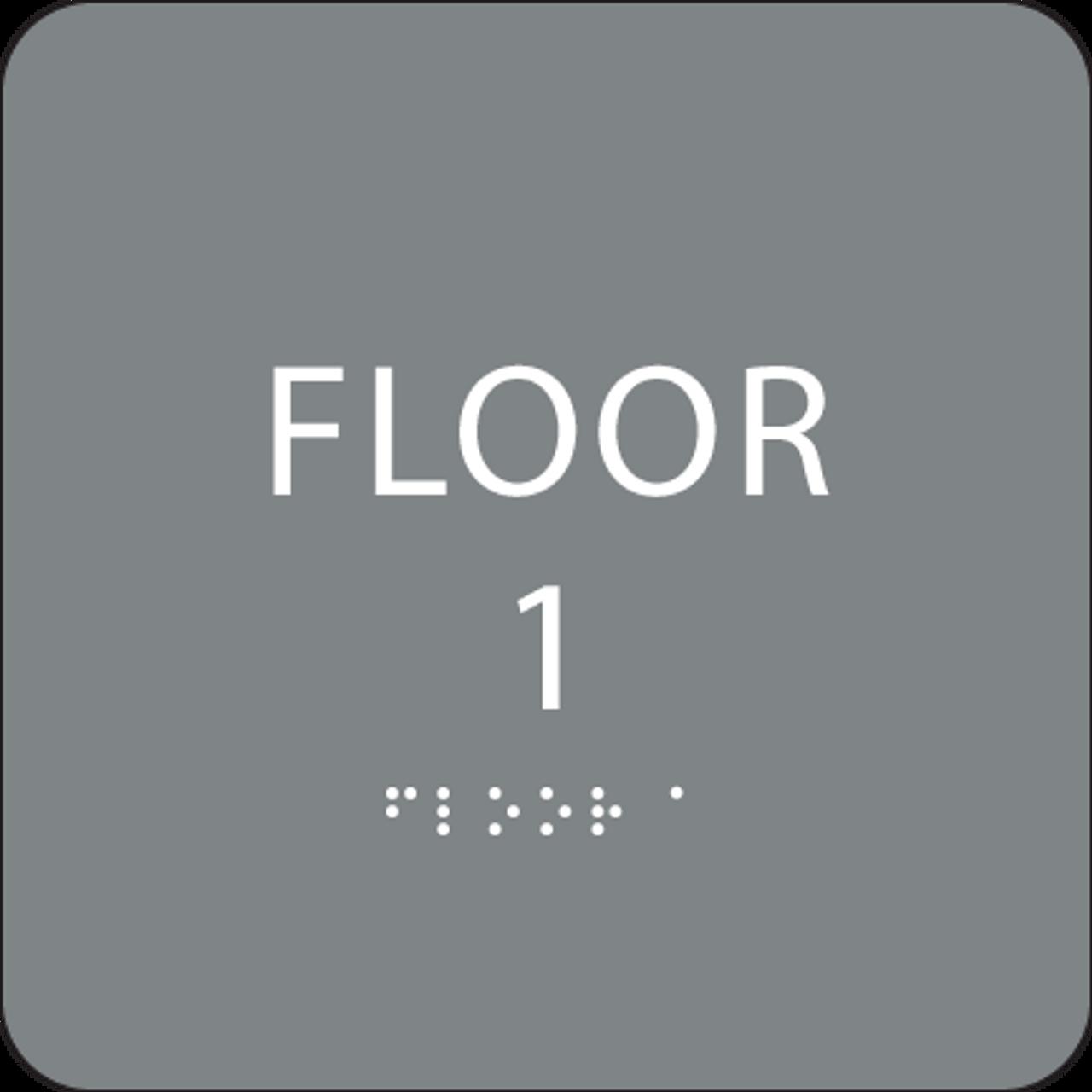 Grey Floor 1 Identification Sign