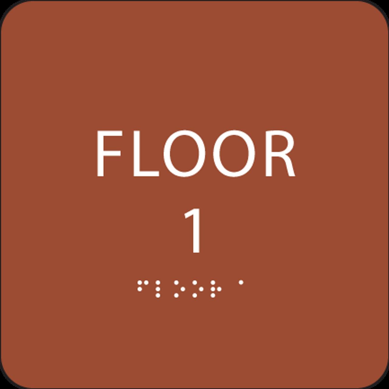 Orange Floor 1 Identification Sign