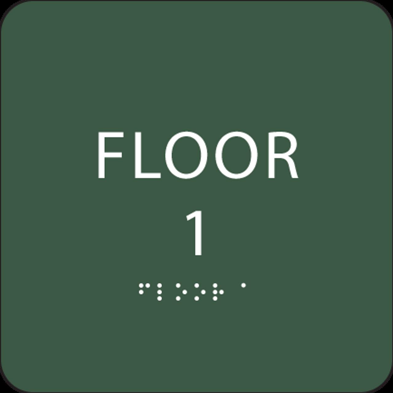 Green Floor 1 Identification ADA Sign