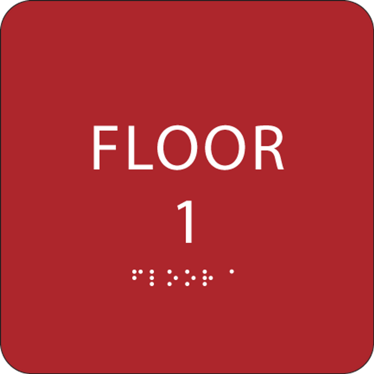 Red Floor 1 Identification Sign