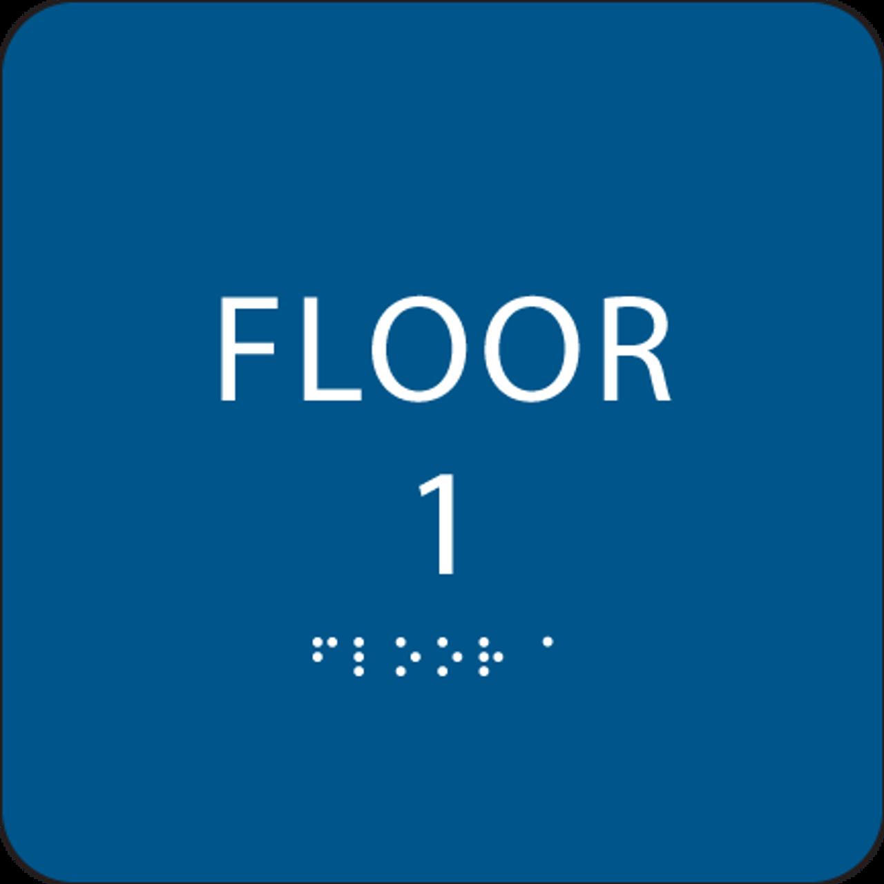 Blue Floor 1 Identification Sign