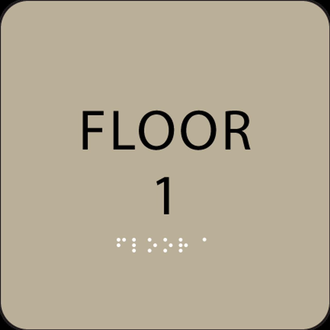 Brown Floor 1 Identification Sign