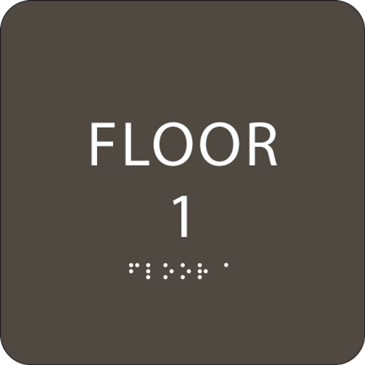 Olive Floor 1 Identification Sign