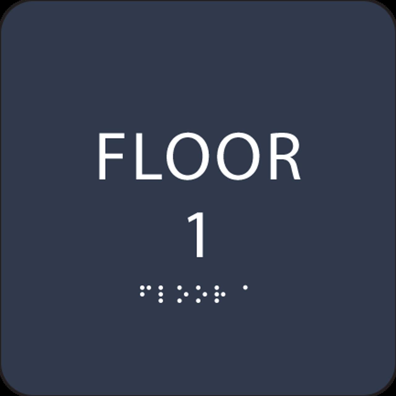 Navy Floor 1 Identification Sign