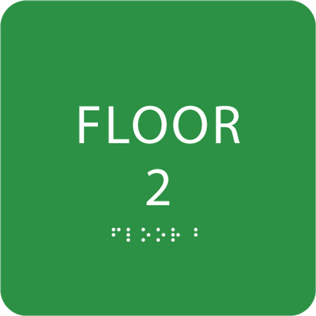 Green Floor 2 Identification Sign