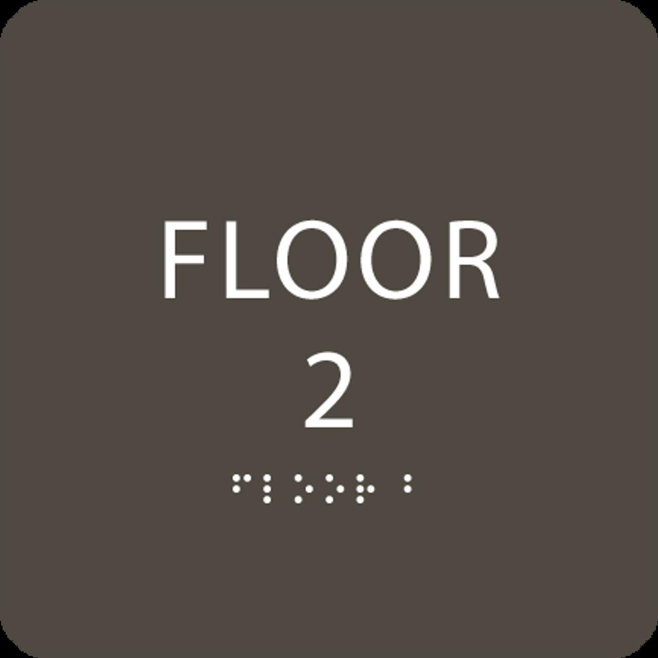 Olive Floor 2 Identification Sign