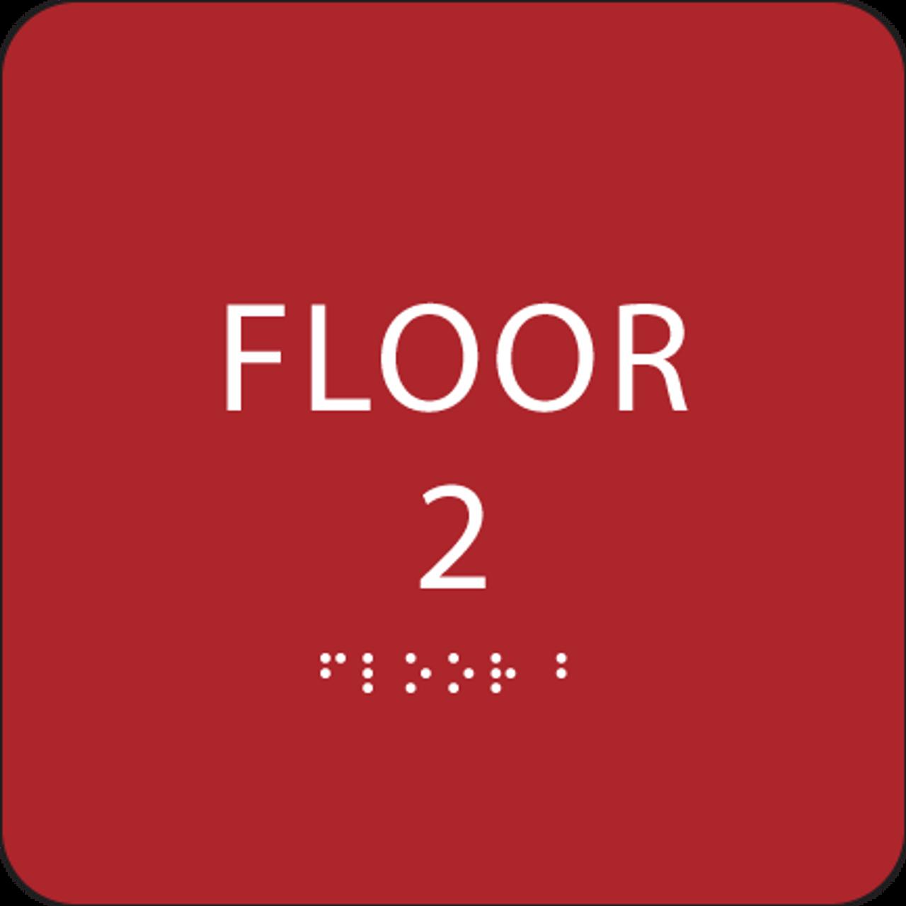 Red Floor 2 Identification Sign