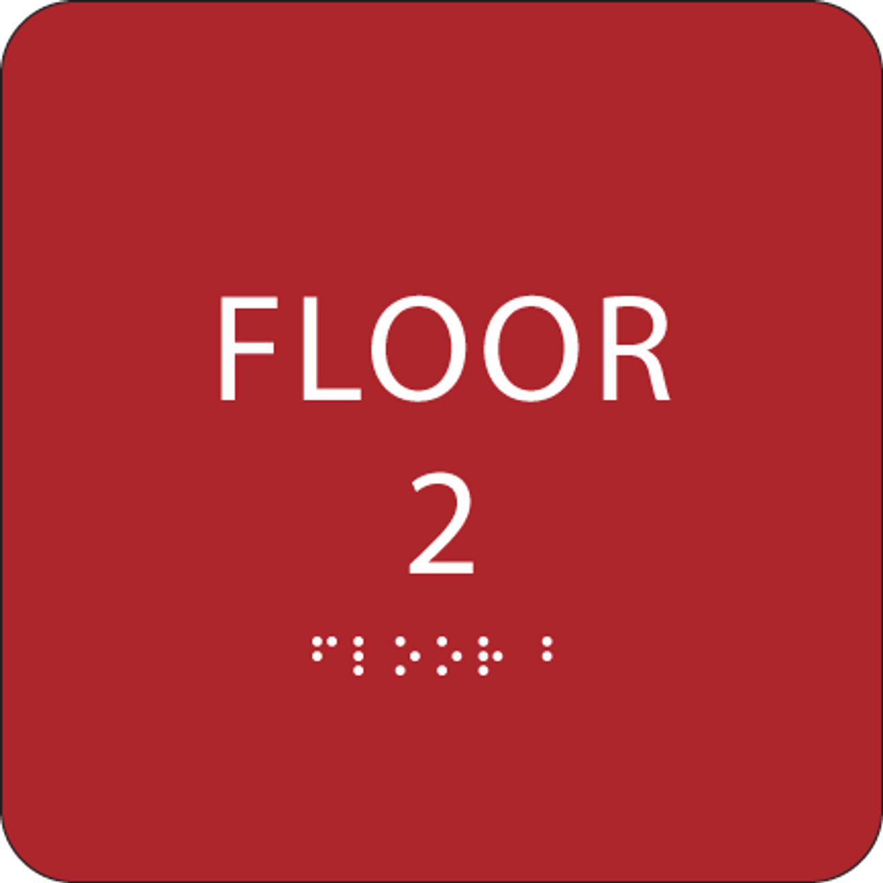 Red Floor 2 Identification Sign