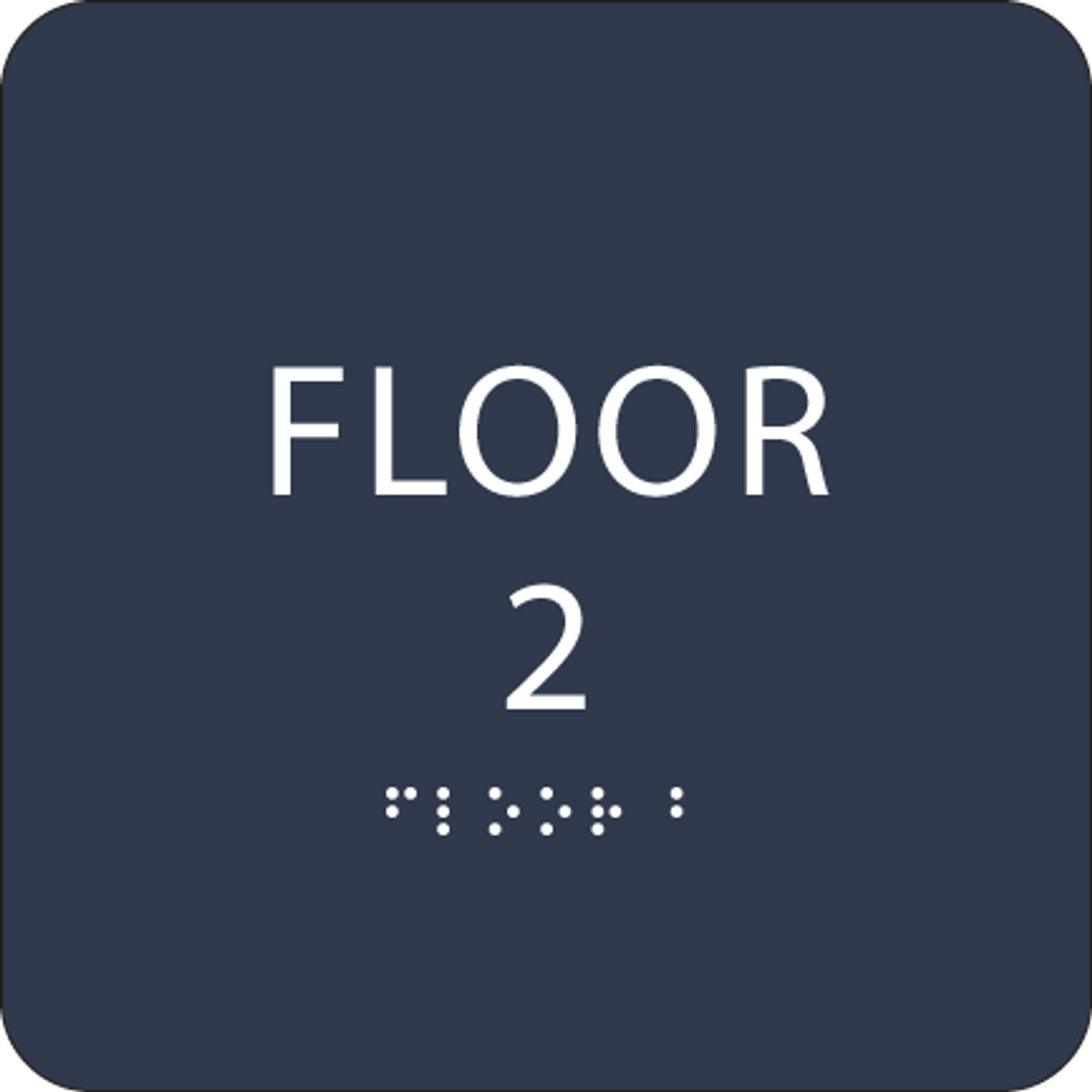 Navy Floor 2 Identification Sign