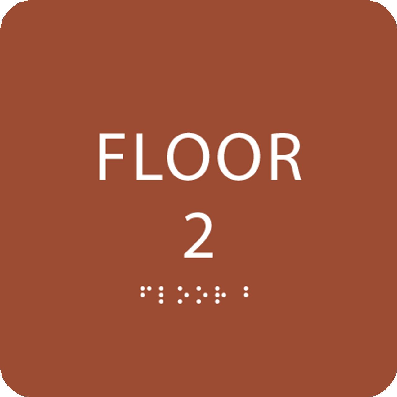 Orange Floor 2 Identification Sign