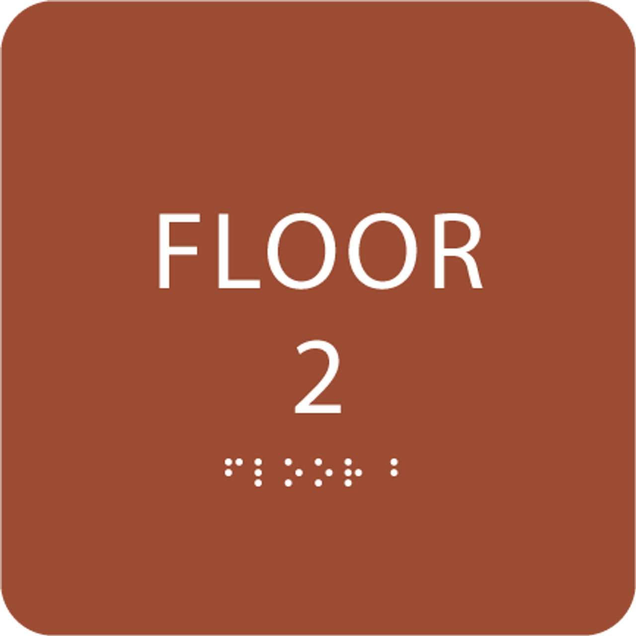 Orange Floor 2 Identification Sign