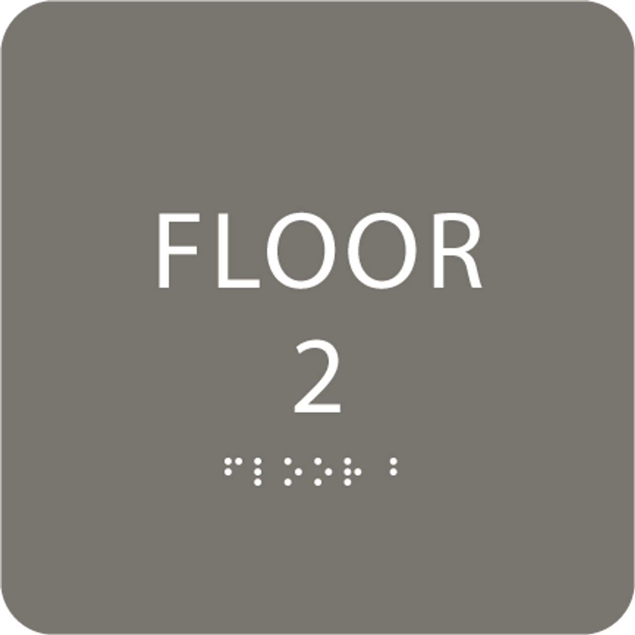 Dark Grey Floor 2 Identification Sign