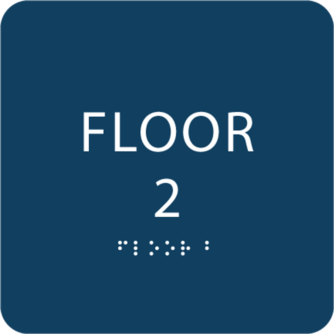 Dark Blue Floor 2 Identification Sign