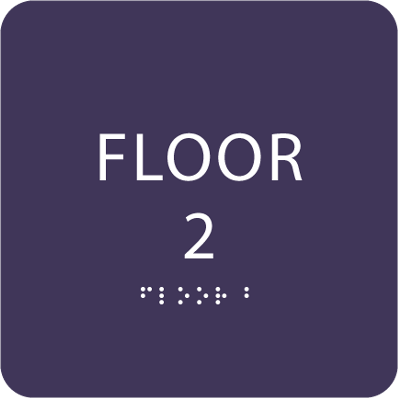 Purple Floor 2 Identification Sign