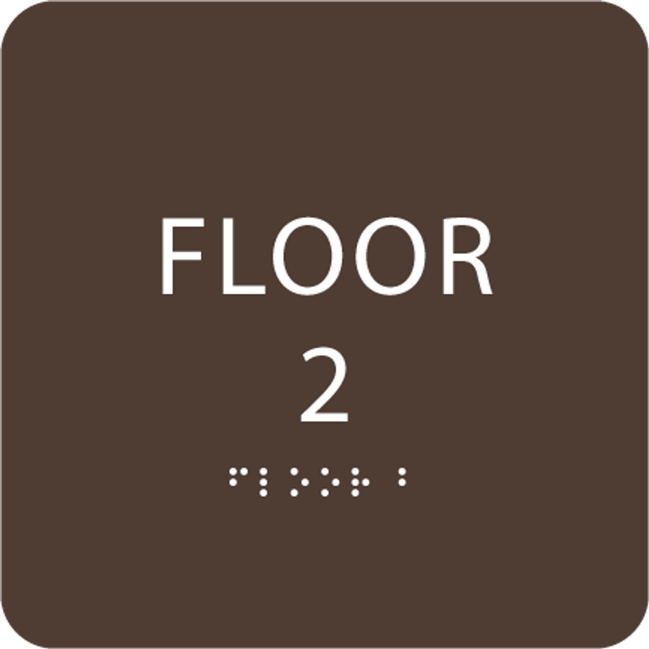 Dak Brown Floor 2 Identification Sign