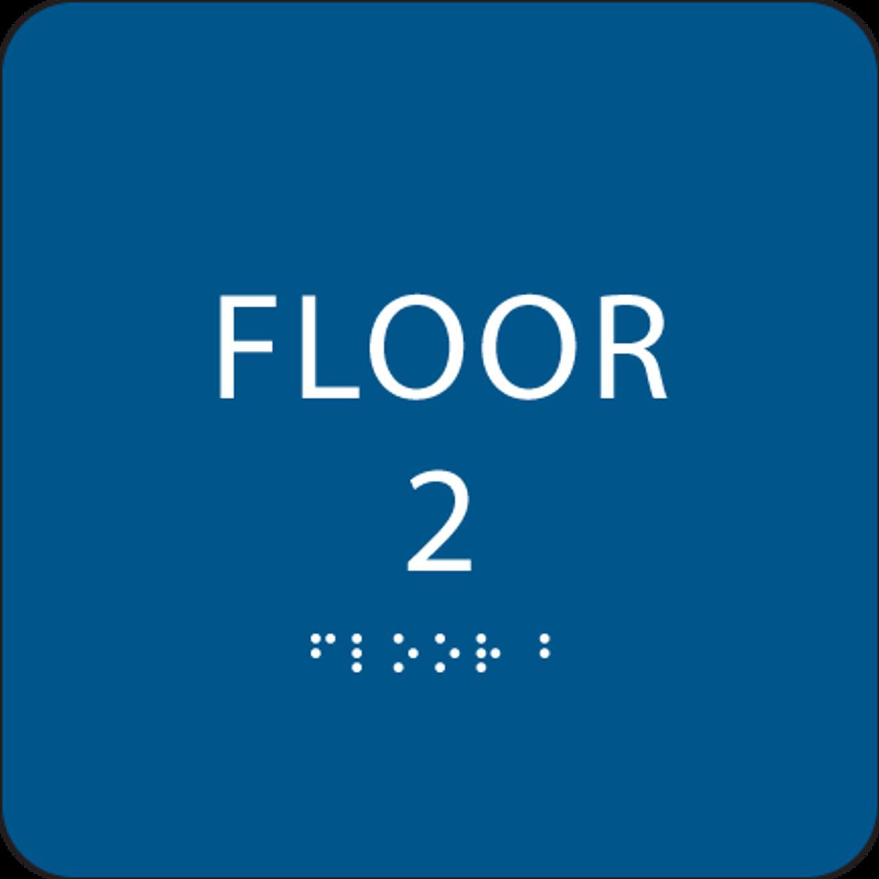 Blue Floor 2 Identification Sign