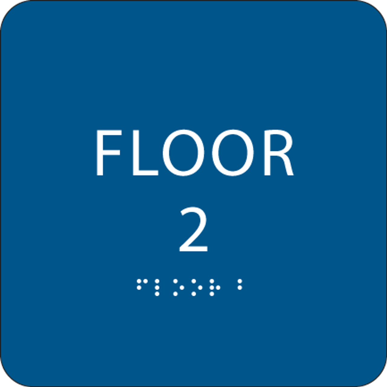 Blue Floor 2 Identification Sign