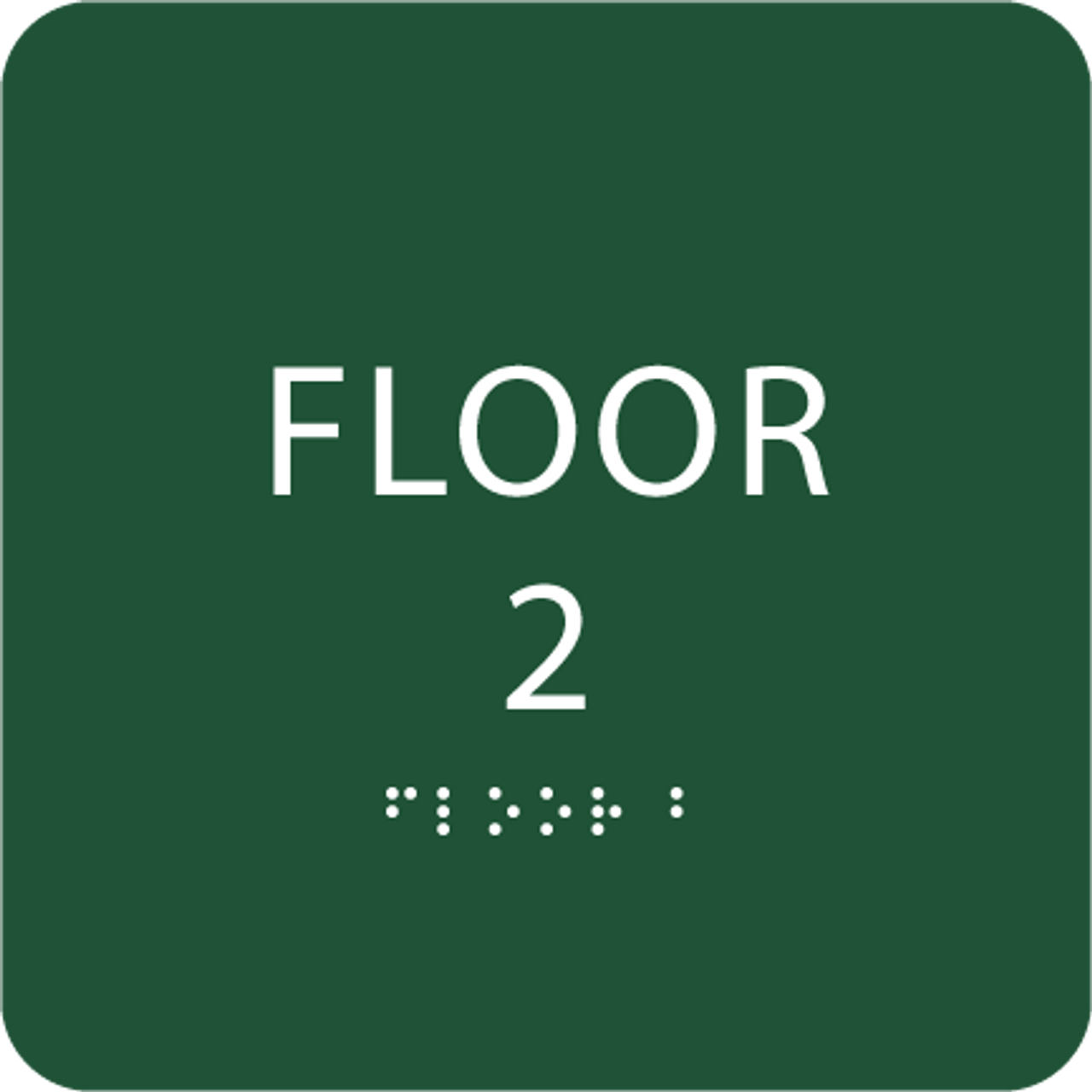 Green Floor 2 Number Sign