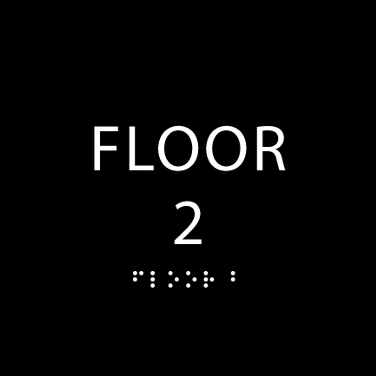 Black Floor 2 Identification Sign
