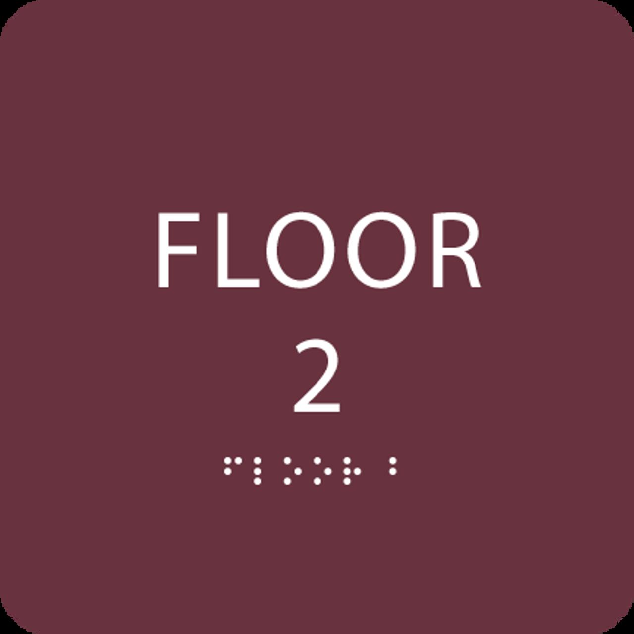 Burgundy Floor 2 Identification Sign