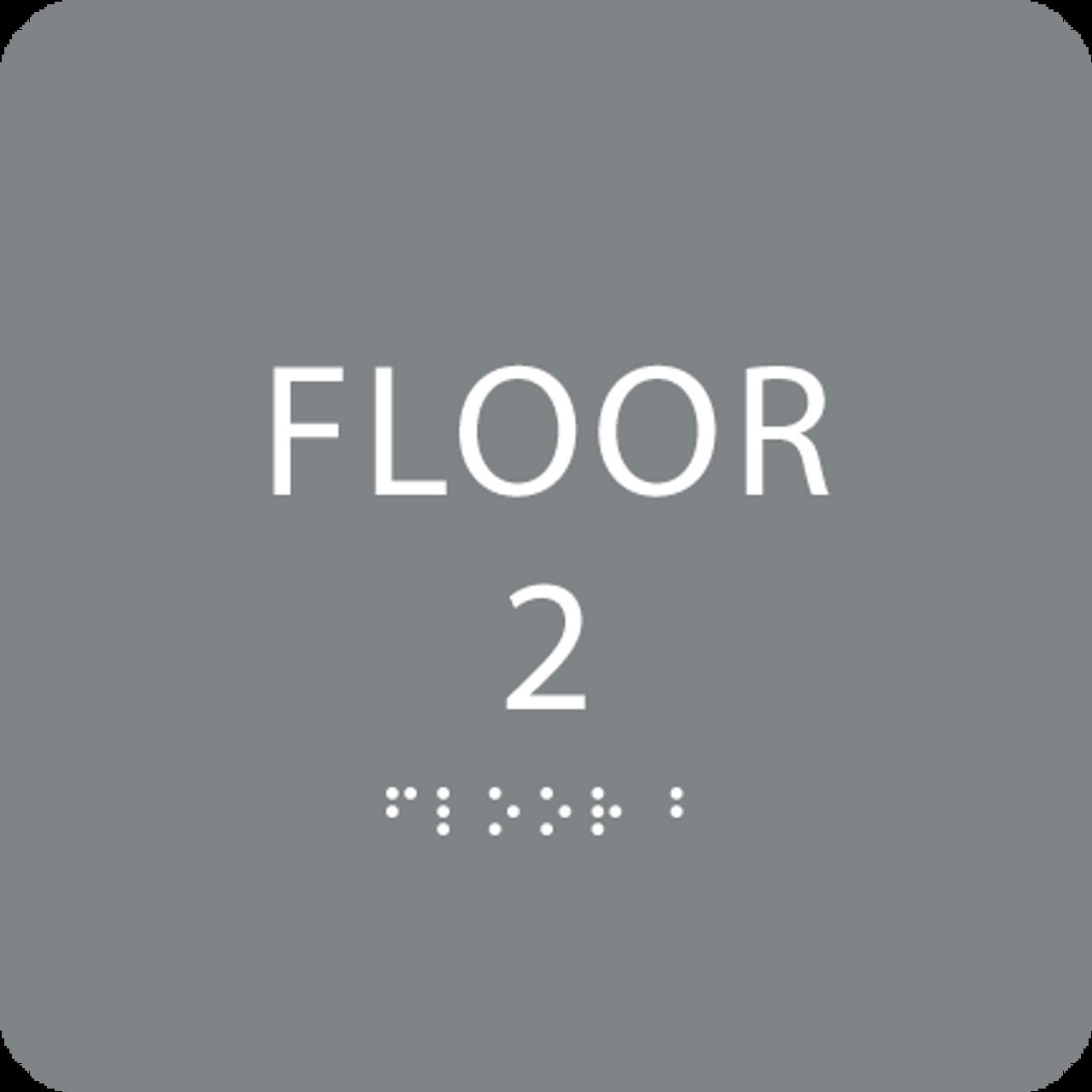 Grey Floor 2 Identification Sign