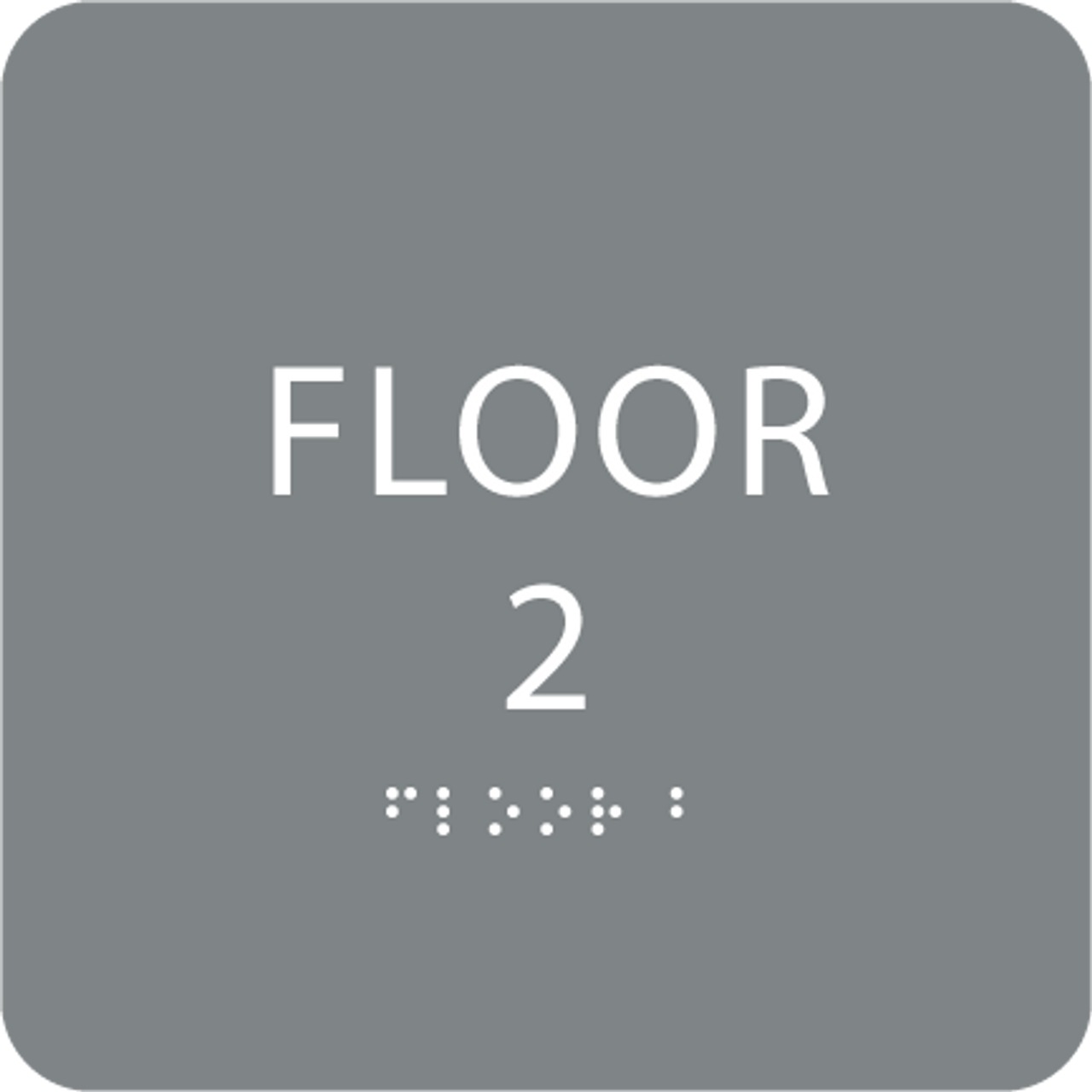 Grey Floor 2 Identification Sign