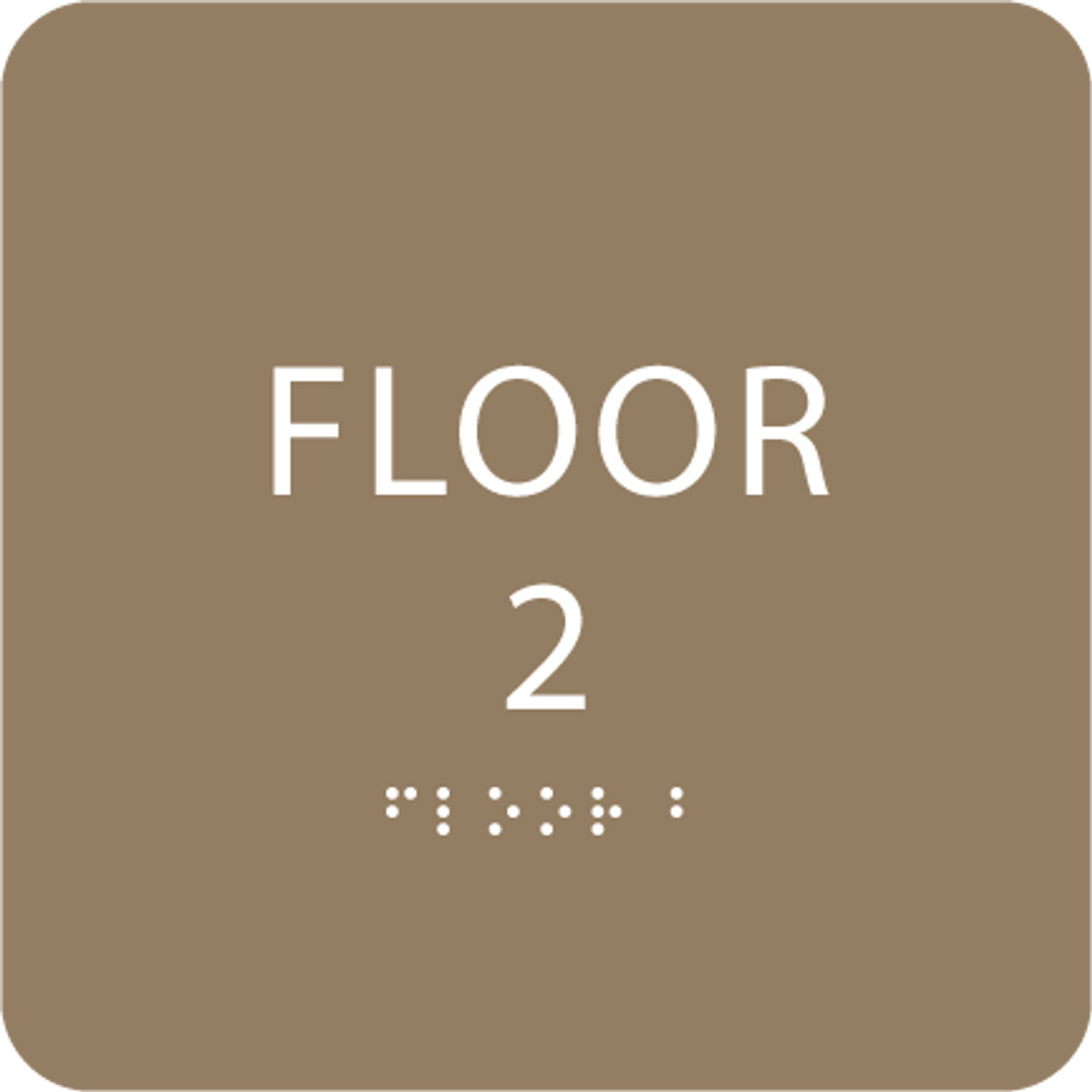 Brown Floor 2 Identification Sign