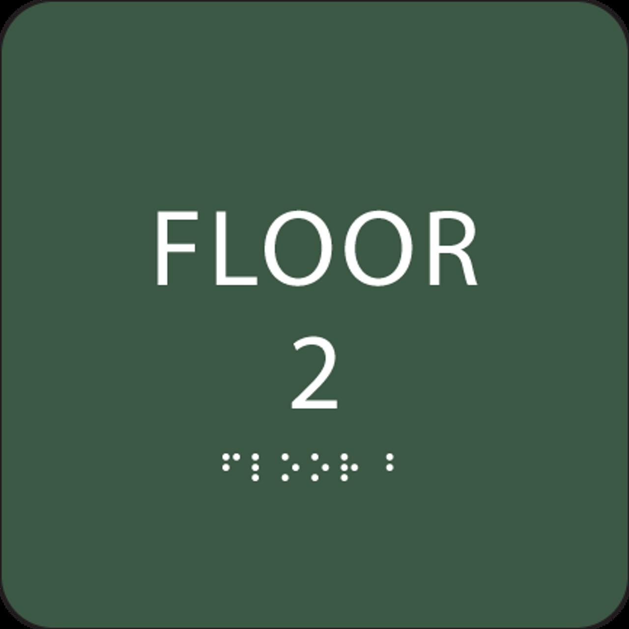 Green Floor 2 Level Sign