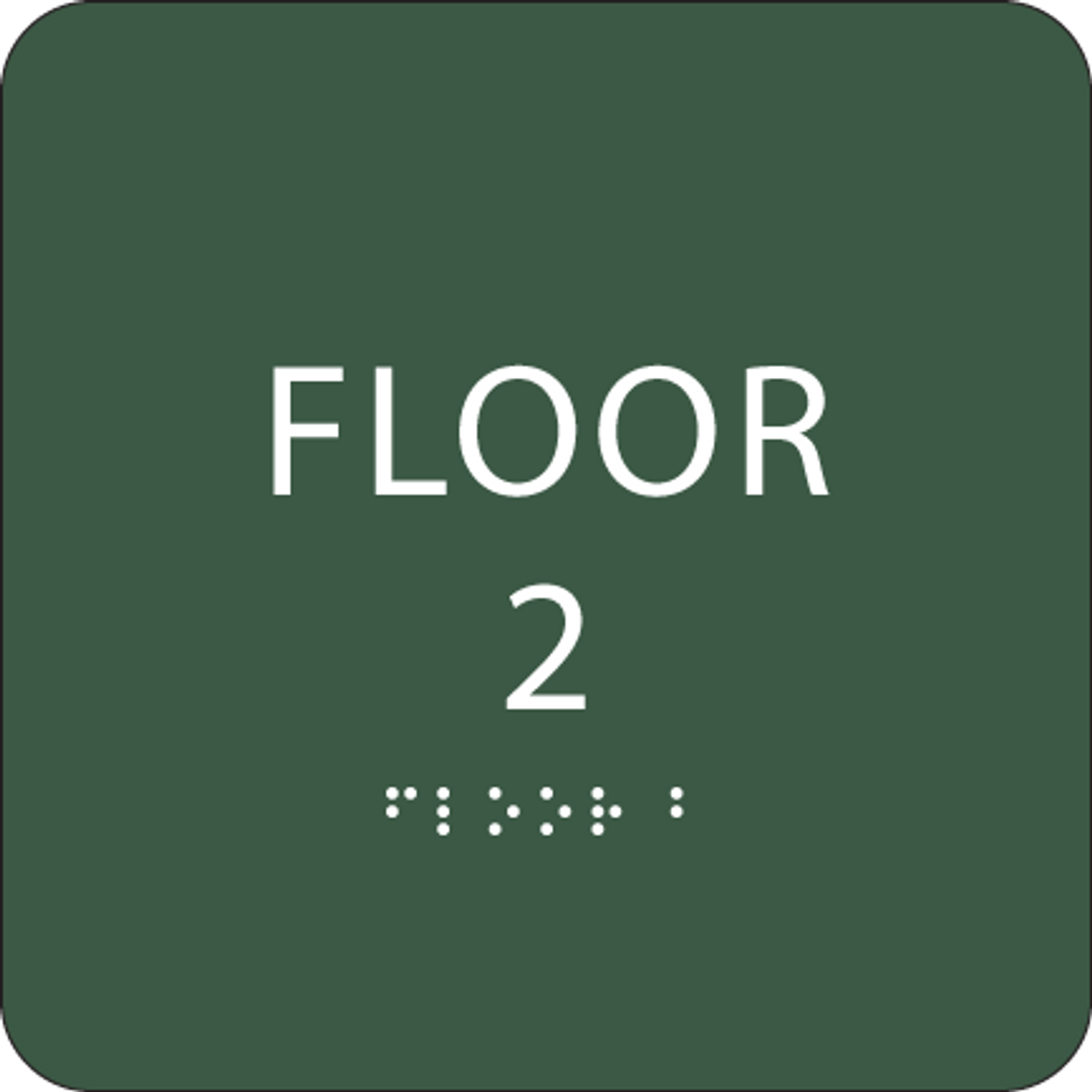 Green Floor 2 Level Sign