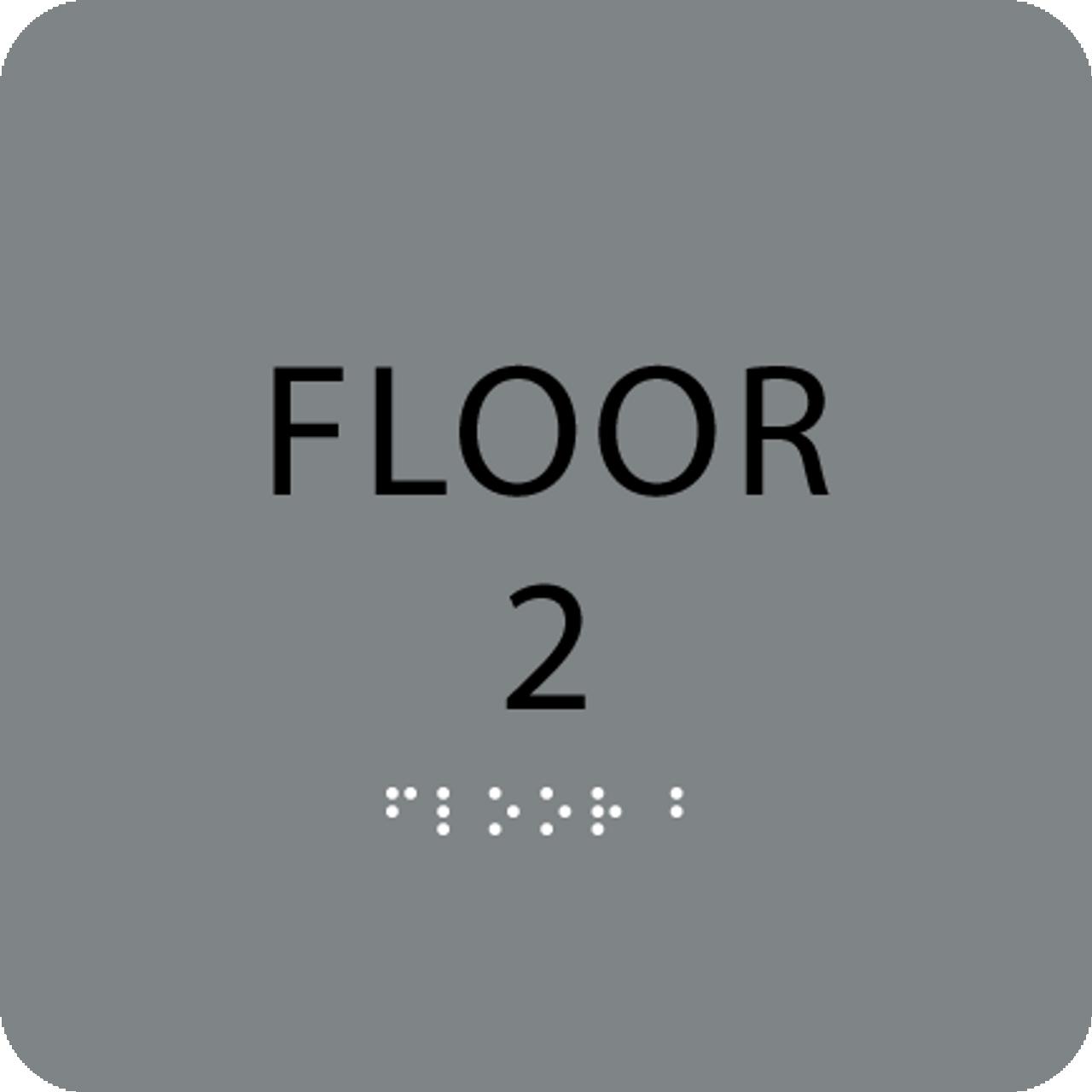 Grey Floor 2 Number Sign