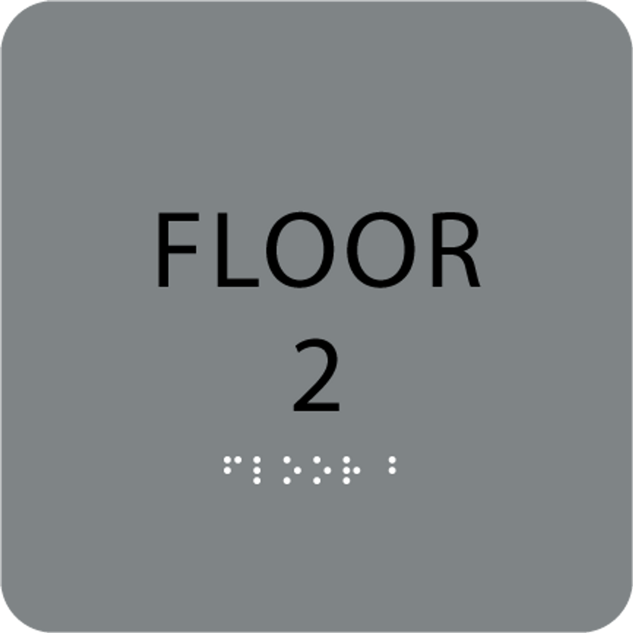 Grey Floor 2 Number Sign