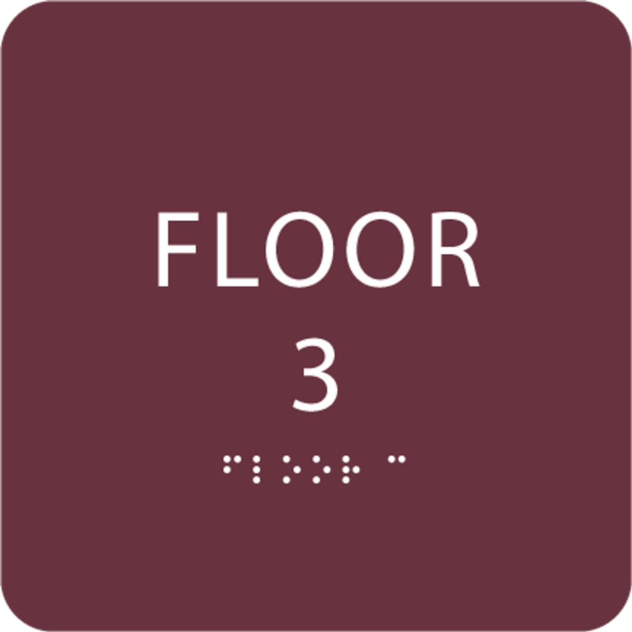 Burgundy Floor 3 Identification Sign