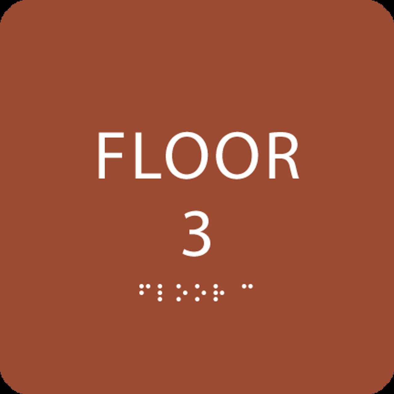 Orange Floor 3 Identification Sign