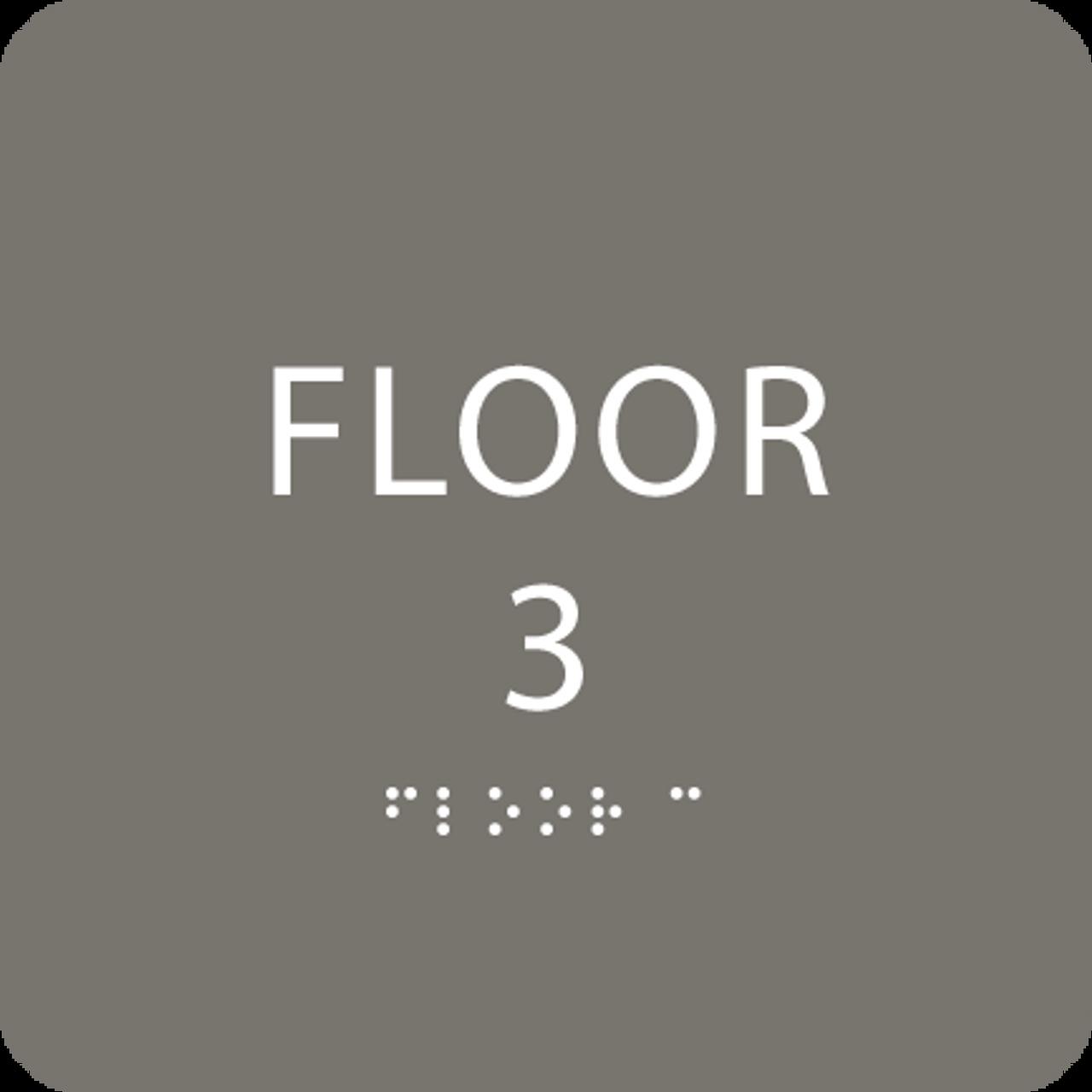 Dark Grey Floor 3 Identification Sign