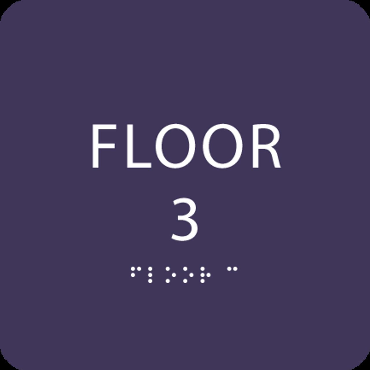 Purple Floor 3 Identification Sign