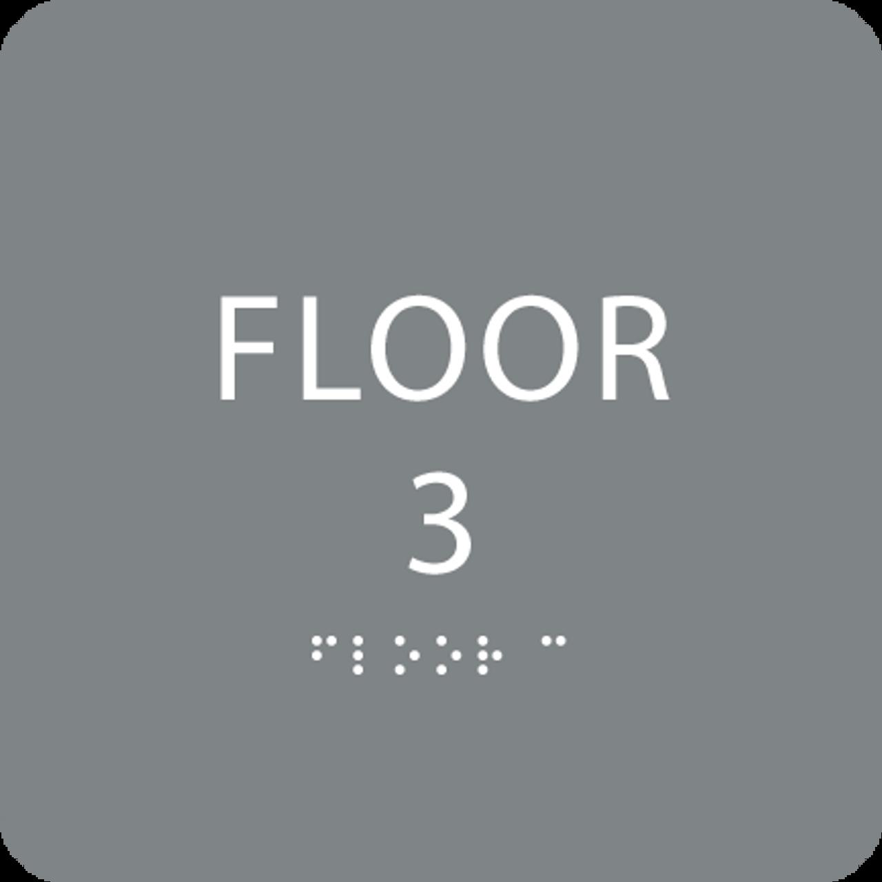 Grey Floor 3 Identification Sign