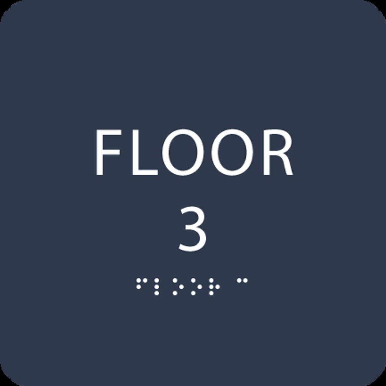 Navy Floor 3 Identification Sign