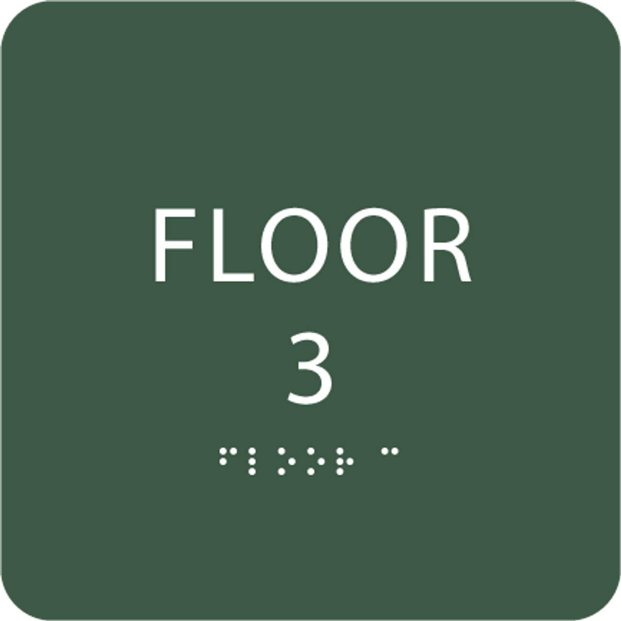 Green Floor 3 Level Sign