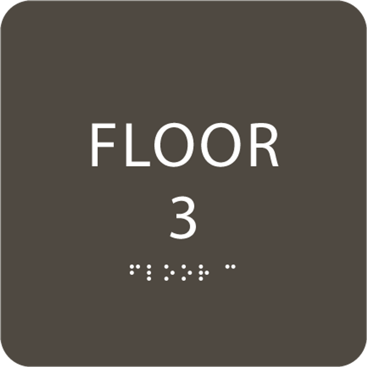Olive Floor 3 Identification Sign